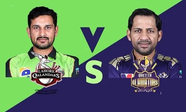 Lahore Qalanders vs Quetta Gladiators Match Live Streaming - PSL 2021 LQ vs QG