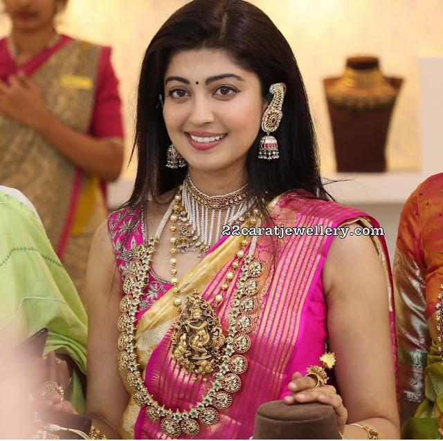 Pranitha in Bottu Mala and Krishna Locket