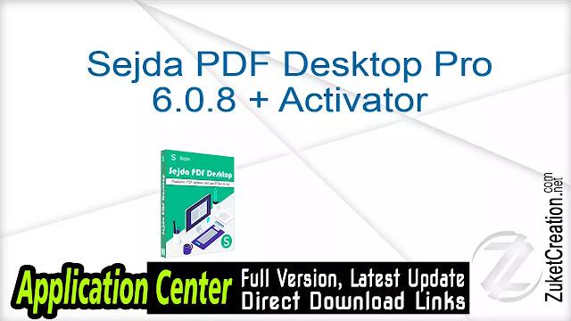 Sejda PDF Desktop Pro 6.0.8 + Activator