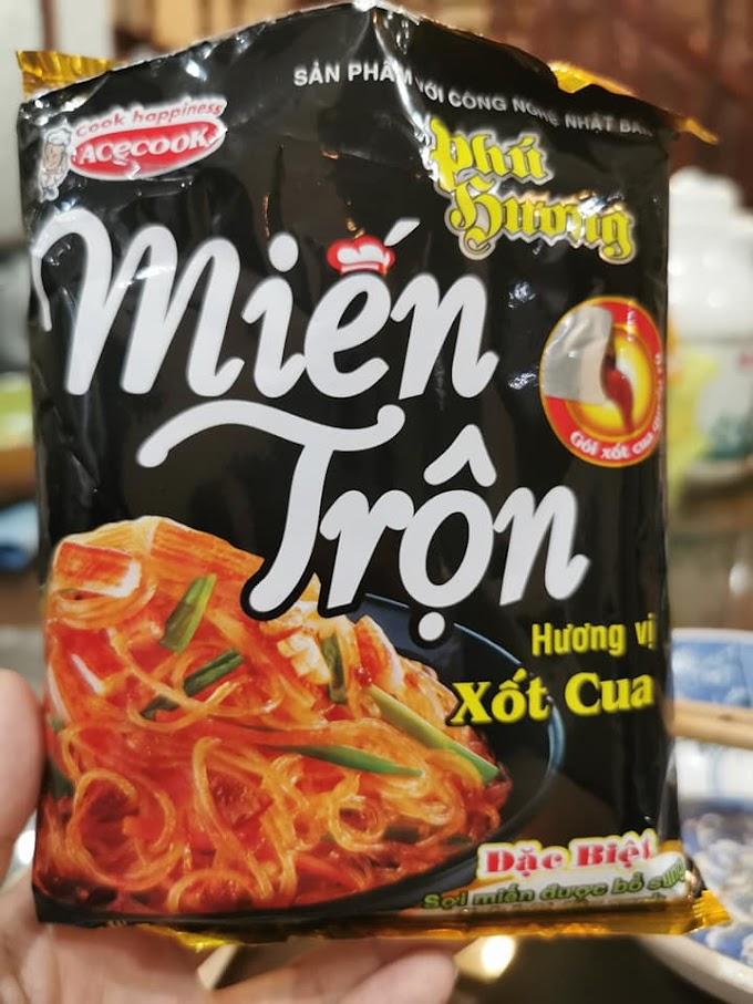 Review miến trộn xốt cua Phú Hương