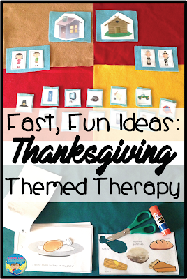 Thanksgiving themed fun with felt in speech/language therapy.