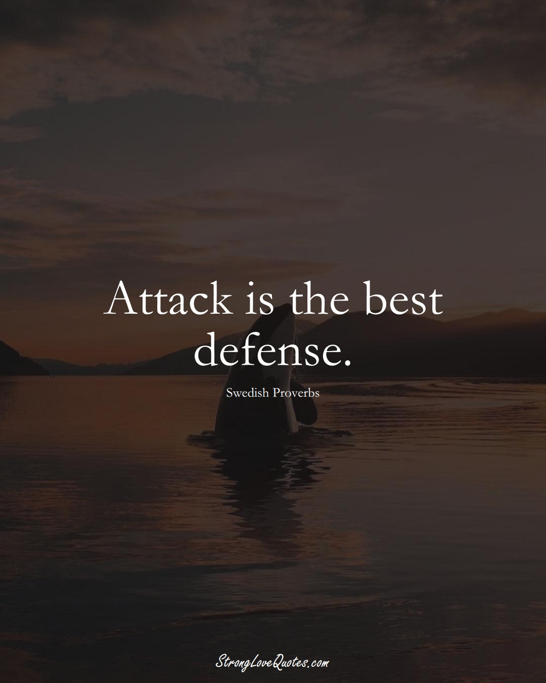 Attack is the best defense. (Swedish Sayings);  #EuropeanSayings