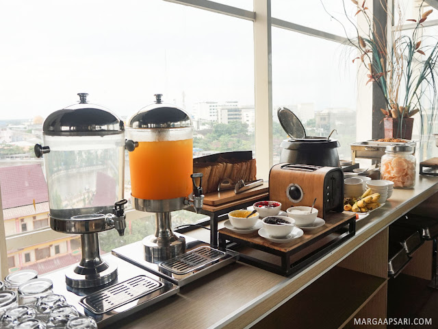 Pilihan makanan sarapan di Breakfast di Summer Bed & Breakfast, Banjarmasin