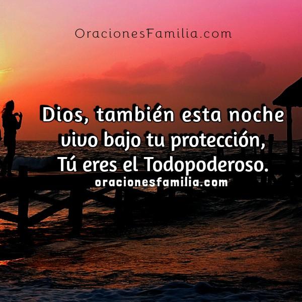 Buenas noches, oraciones cortas para dormir tranquilo, Mery Bracho oraciones de familia. Imágenes con oración cristiana.