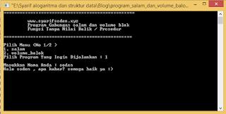 program void salam