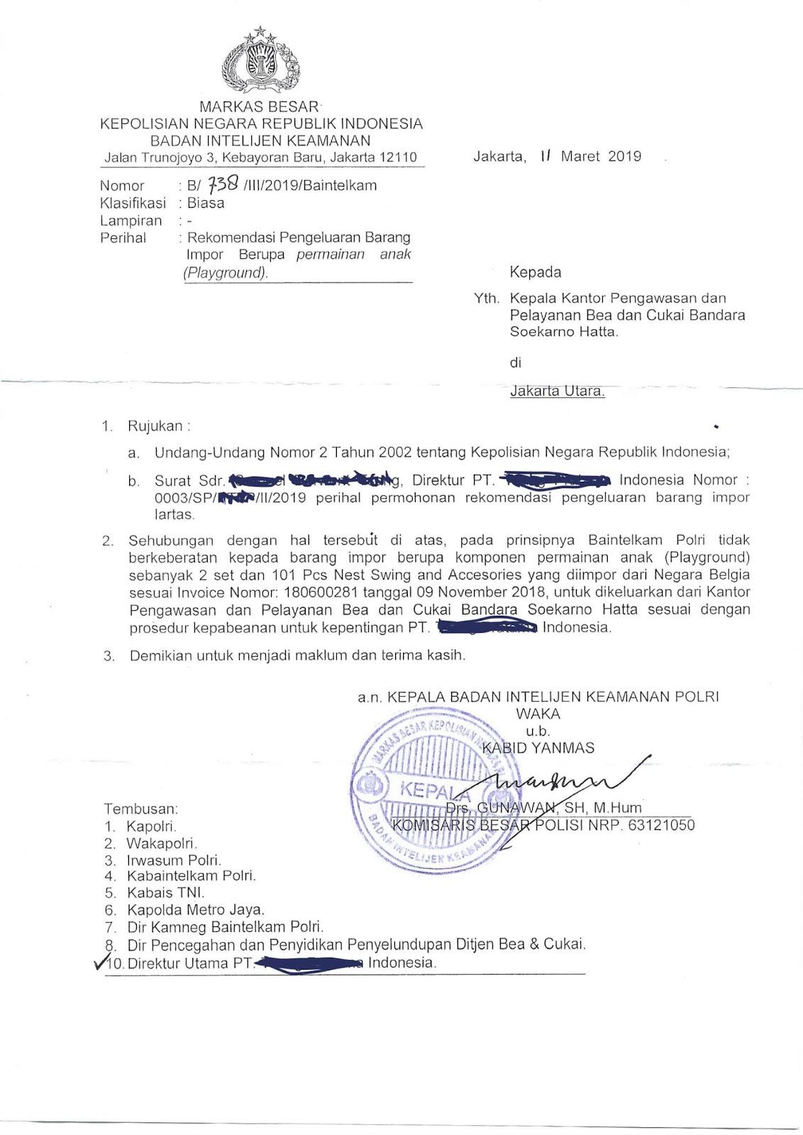 Contoh Surat Larangan Dan Pembatasan Lartas Wajib Izin