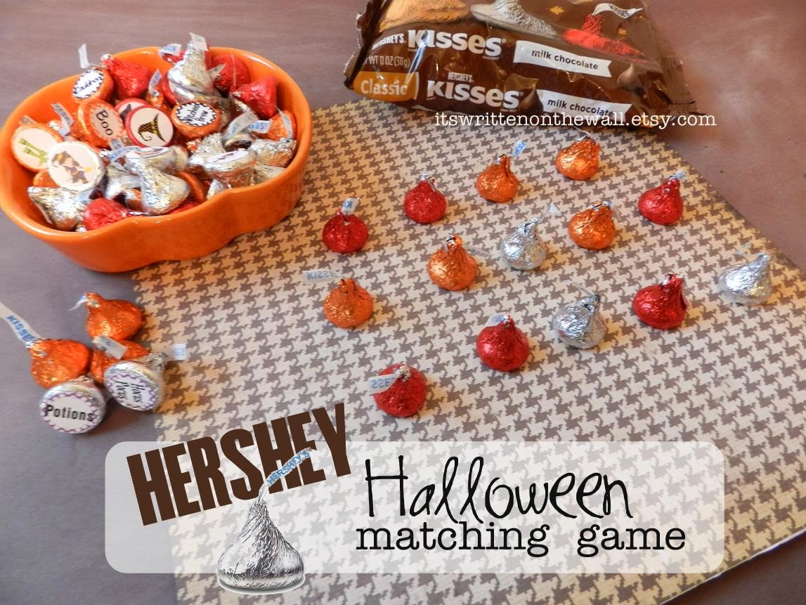 It S Written On The Wall Sweet Halloween Matching Game With Hershey Kiss Game Pieces Chocolate