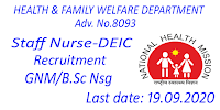 Staff Nurse jobs- Health and Family welfare department