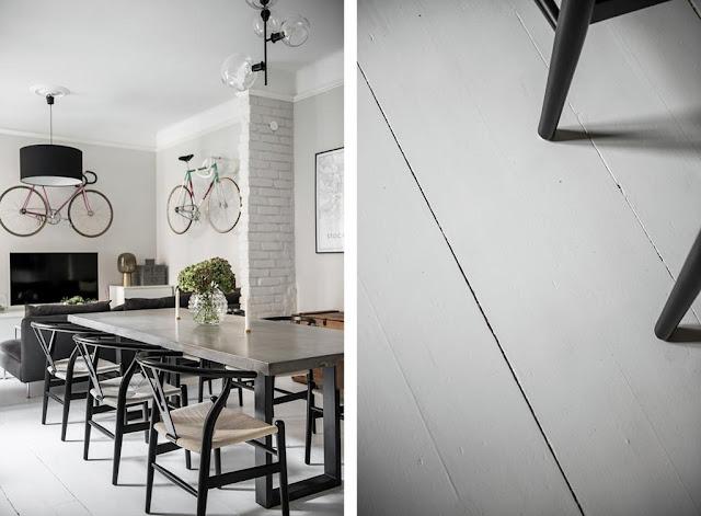 Cool and interesting scandinavian apartment