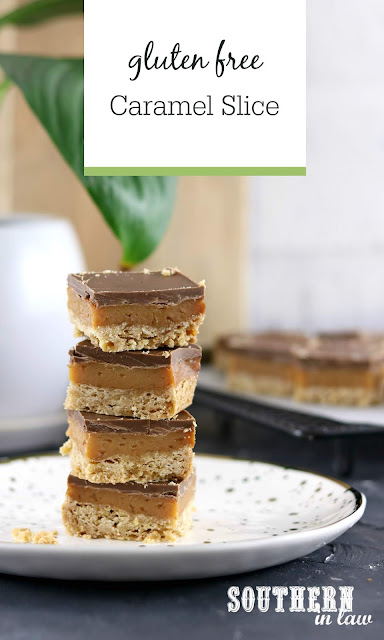 Easy Gluten Free Caramel Slice Recipe with Condensed Milk