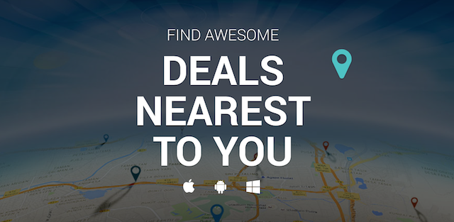 Albaloo uses our phone GPS to direct us to the best deals nearest to us
