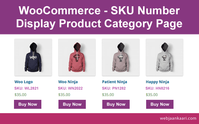 How do add product SKU under product name on category page WooCommerce