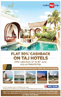 TAJ HOTELS OFFERS ON MAKEMYTRIP