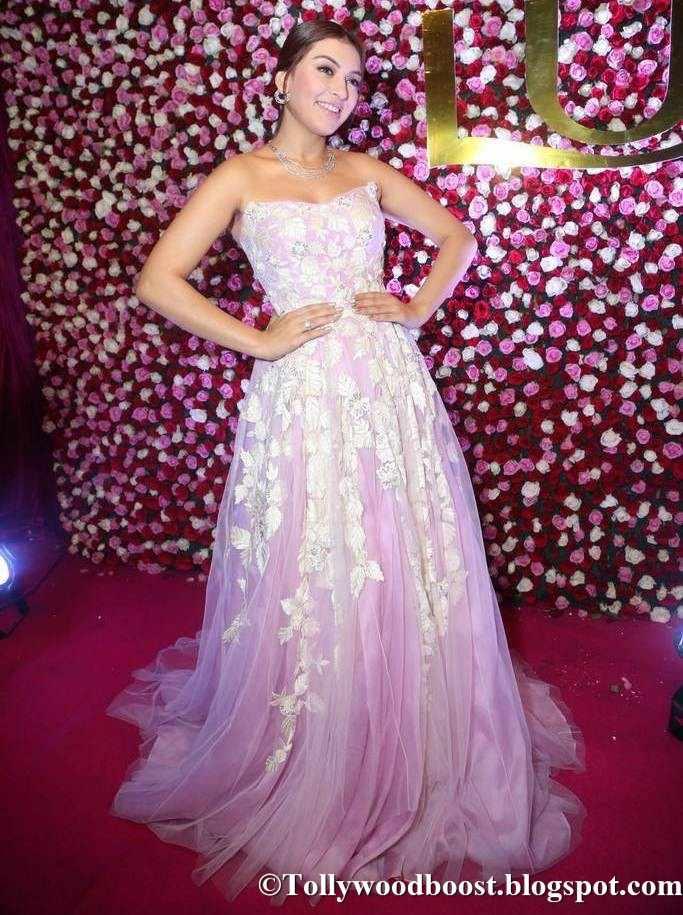 Hansika At Zee Telugu Apsara Awards 2017 In Pink Dress