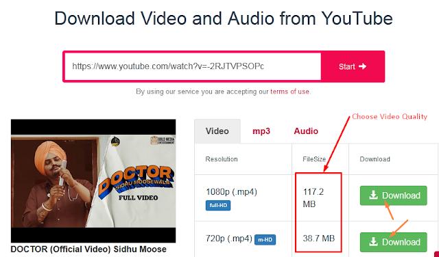 choose yt video quality