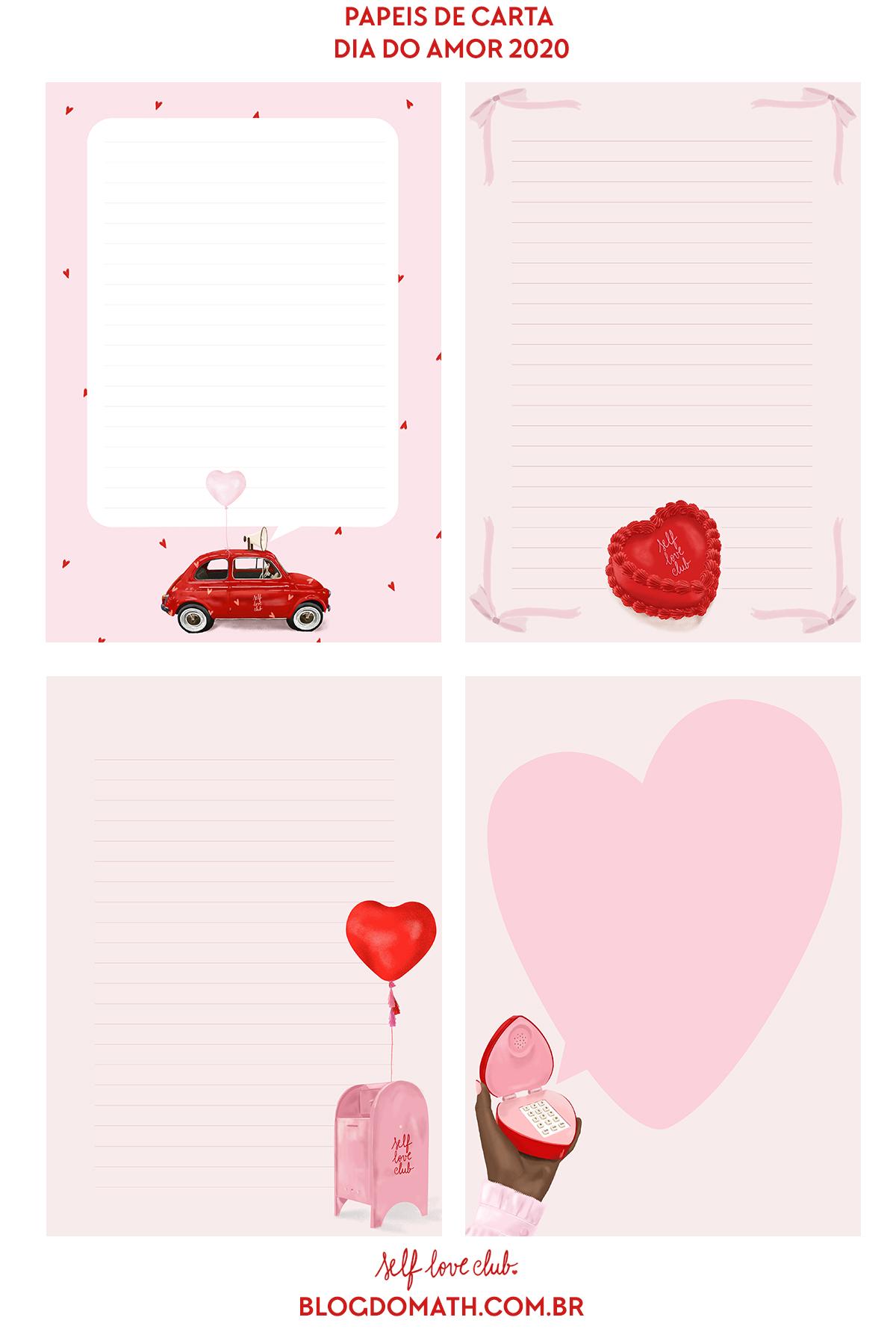 Papéis De Carta Para Imprimir Dia Dos Namorados 2020 Blog Do Math
