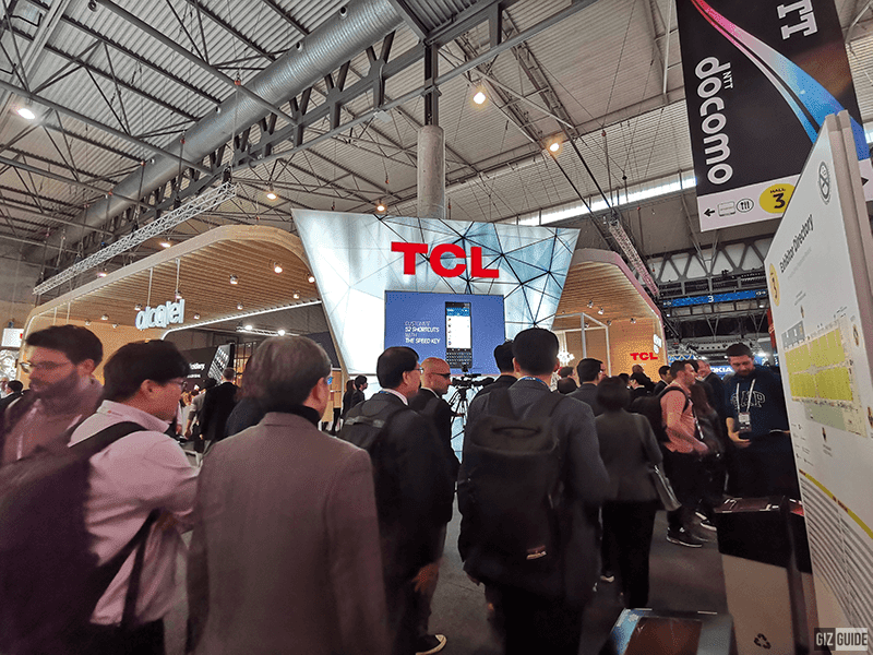 File photo: TCL and Alcatel booth last MWC 2019