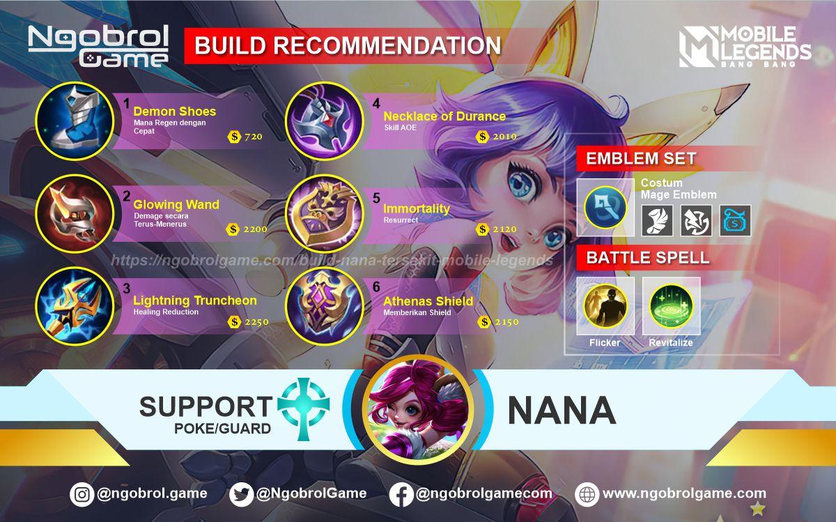 Build Nana Top Global Tersakit Mobile Legends