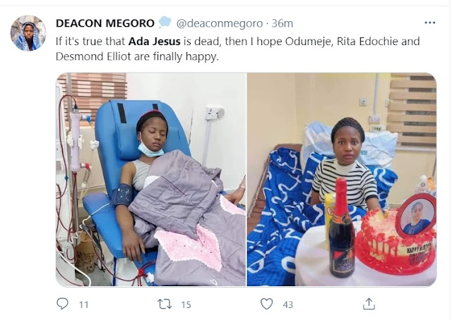 Odumeje Didn't Kill Ada Jesus, See The Real Reason Behind Her Death