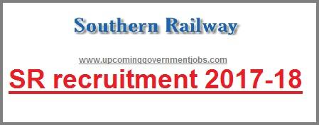 Southern railway recruitment 2017-2018, sr recruitment, rrb 2017