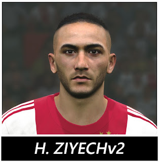 PES 2017 Faces Hakim Ziyech by BenHussam