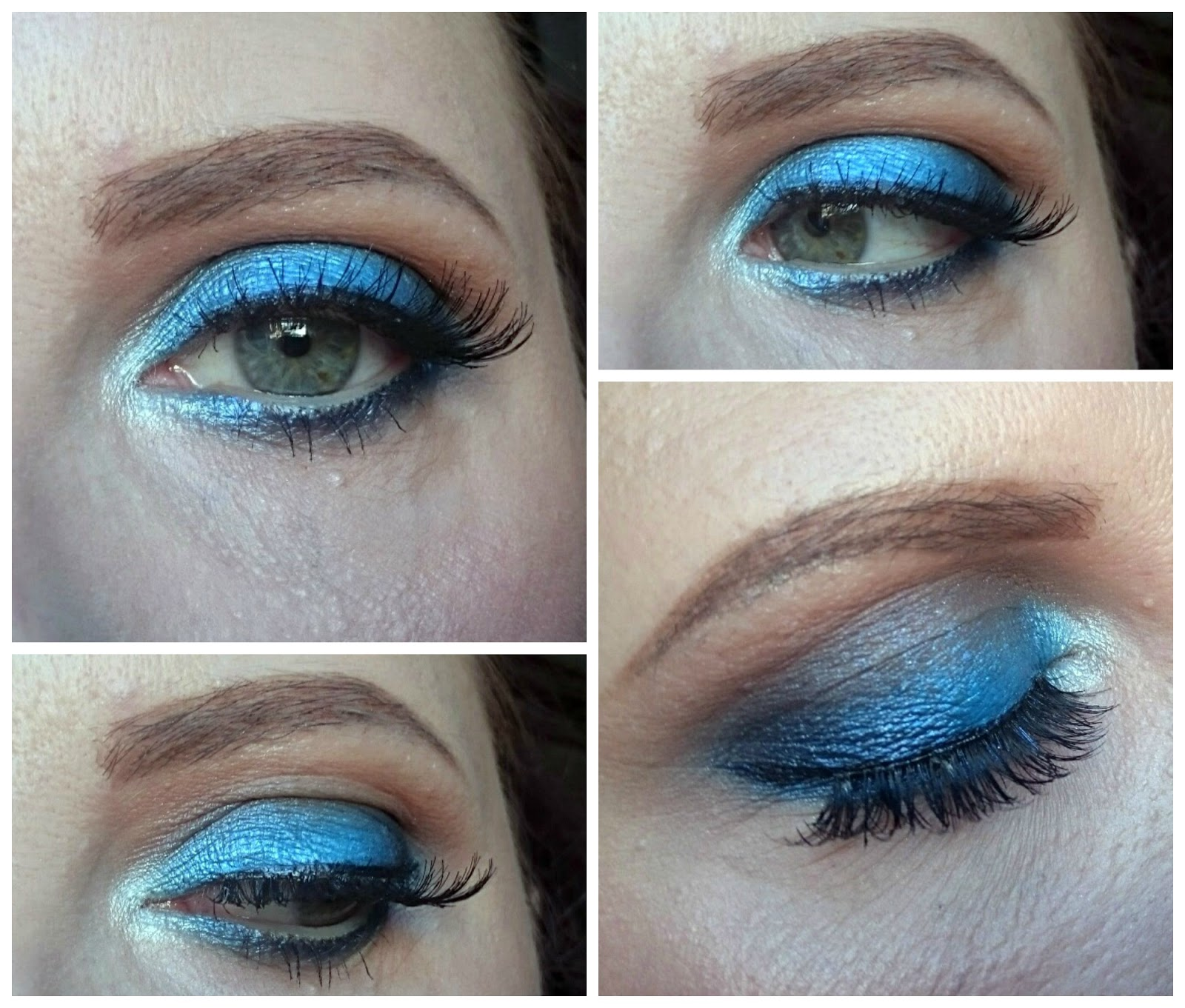Electric blue eyes makeup look