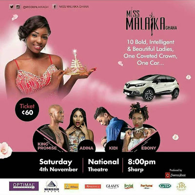 Miss Malaika Ghana 2017 Grand Finale Set For November 4th
