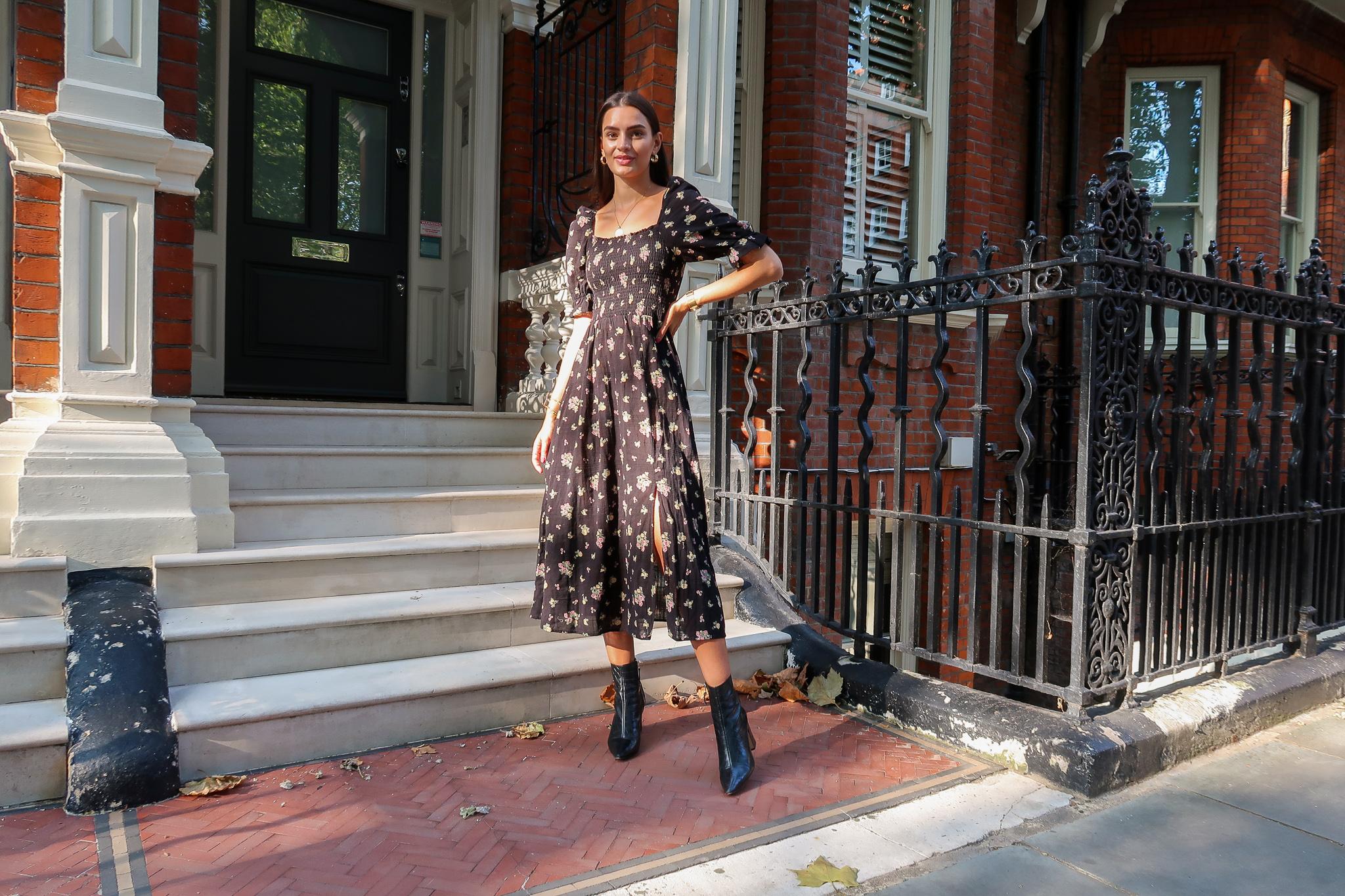 autumn transitional style new look midi dress