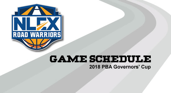 LIST: NLEX Road Warriors Game Schedule 2018 PBA Governors' Cup