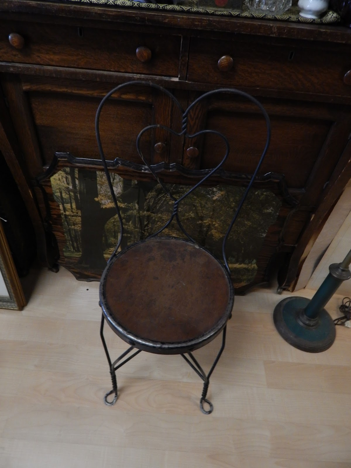 13909 Antiques: Antique Ice Cream Parlor Chairs