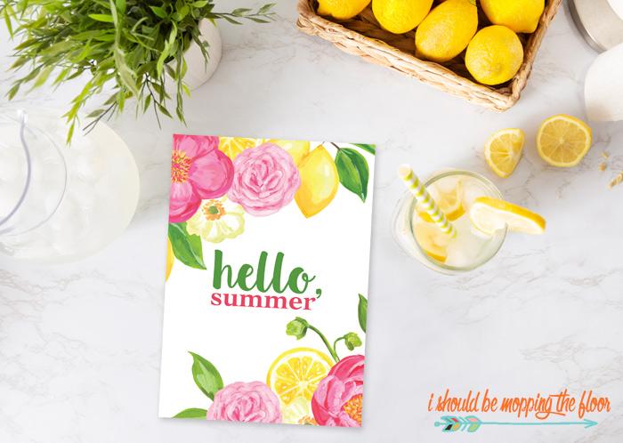 Free Hello, Summer Printables