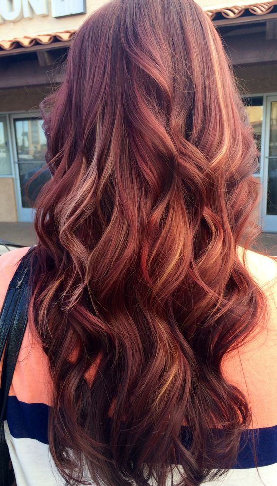 12 Hottest Mahogany Hair Color Highlights For Brunettes ...