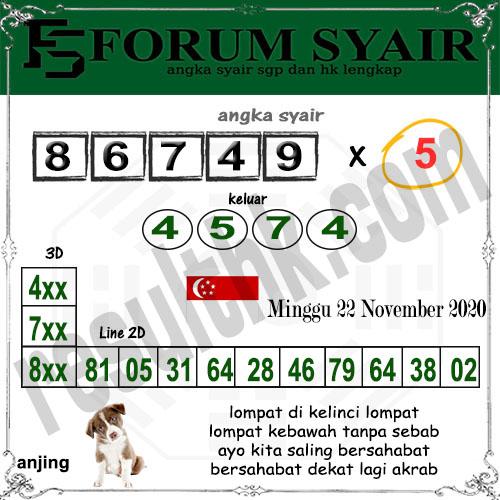 Forum Syair SGP Minggu 22 November 2020