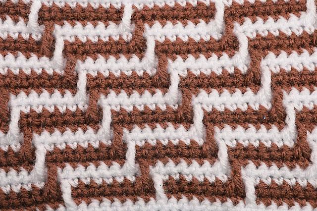 6 - Crochet Imagen Varioación de punto apache por Majovel Crochet