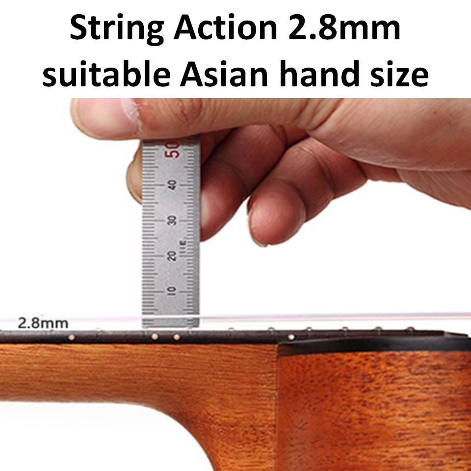 Ukulele Tauro TR52 [Ukulele Review By Mato Music] string action
