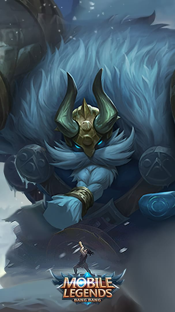 Wallpaper Grock Iceland Golem Skin Mobile Legends HD for Android and iOS