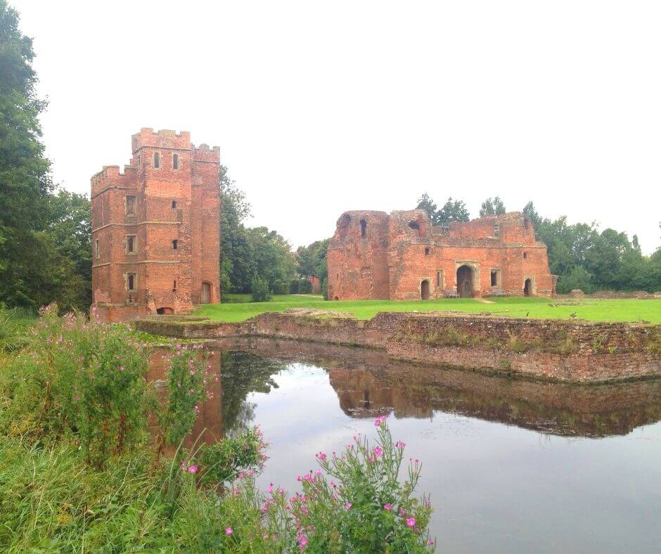 Fascinating English Heritage Castles To Visit In The East Midlands | A moat surrounds Kirby Muxloe Castle.