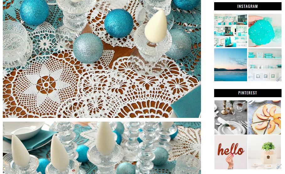 Blog Template with Pinterest Instagram Widgets