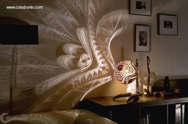 Modelo de lámpara artesanal
