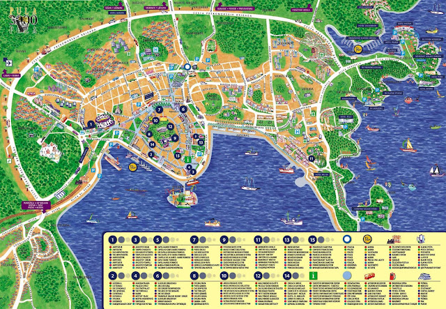 Mapa de Pula, Istria, Croacia