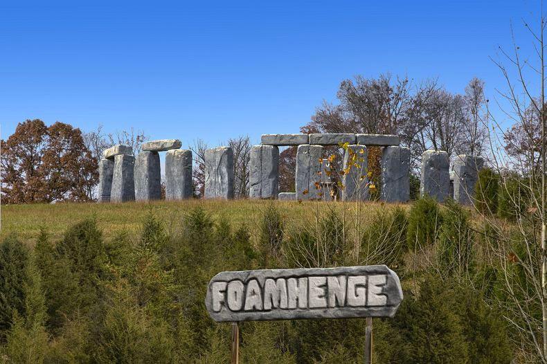 Foamhenge - la réplica de Stonehenge construida de espuma de poliestireno | Estados Unidos