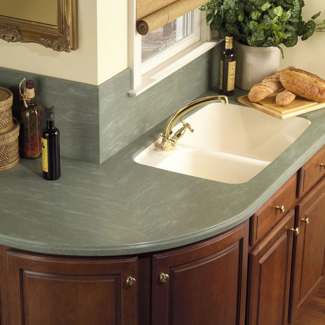 Decorating Kitchen Cabinet Tops: Foundation Dezin & Decor...: Kitchen Counter Tops Designs