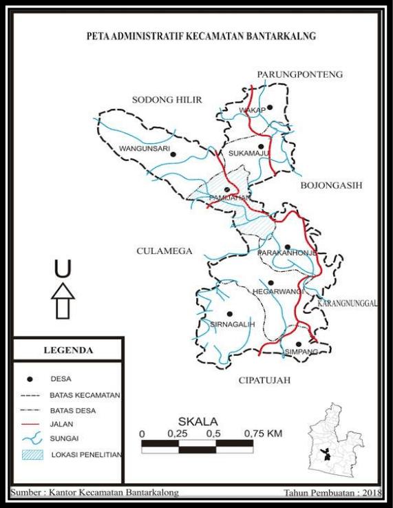 Peta Administratif Kecamatan Bantarkalong