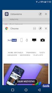 LG G5 Podgląd Ostatnio Otwartych Aplikacji