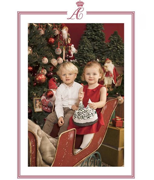 Prince Albert and Princess Charlene and their twins Prince Jacques and Princess Gabriella