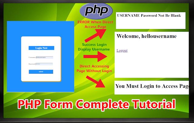 php login form