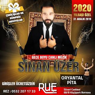 Rue Live İzmir Yılbaşı Programı 2020 Menüsü