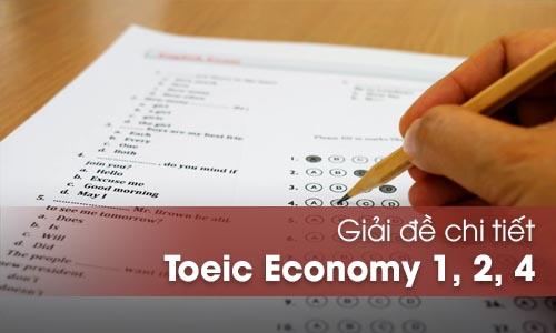 Giải đề Economy Toeic