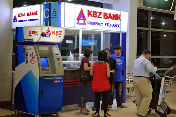 Cajeros automaticos (ATM) en los aeropuertos de Myanmar