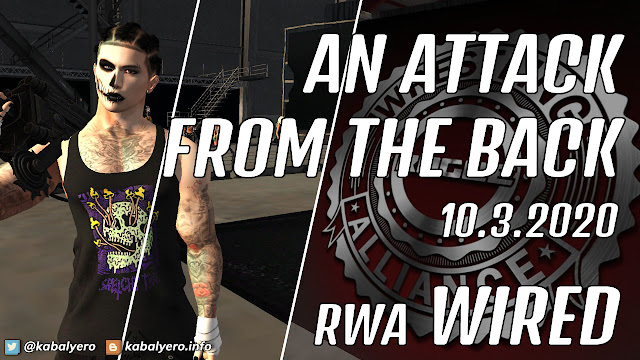 Shiryo vs Vance Crowe • RWA WIRED (10.3.2020) [SECOND LIFE WRESTLING]